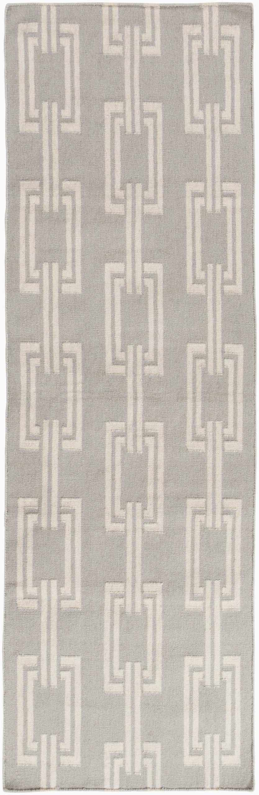 boardwalk geometric handwoven flatweave gray area rug