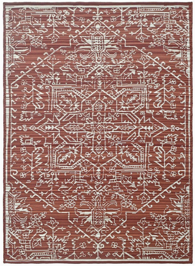 sonoma goods for life red reversible ethnic area and throw rug