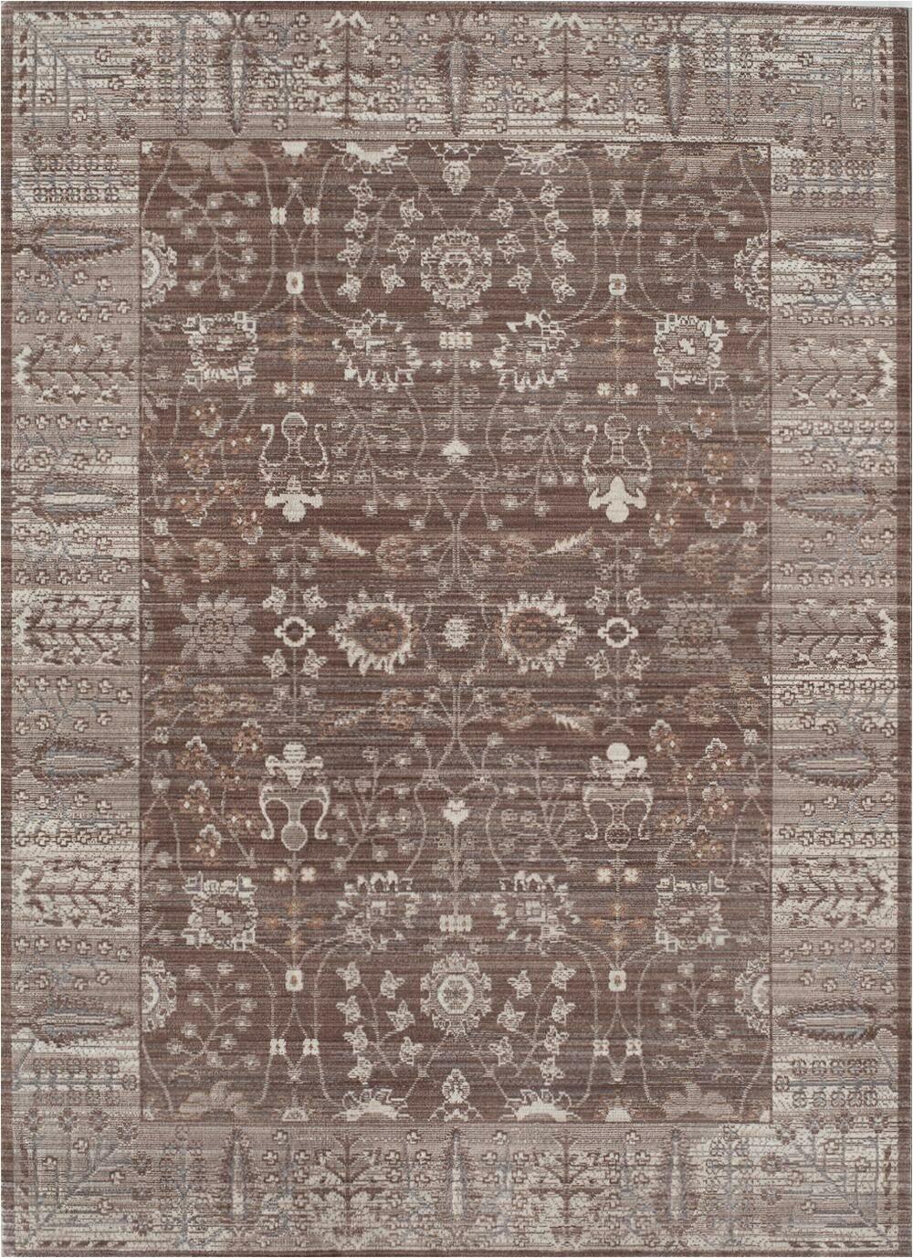 carmella browntaupe area rug