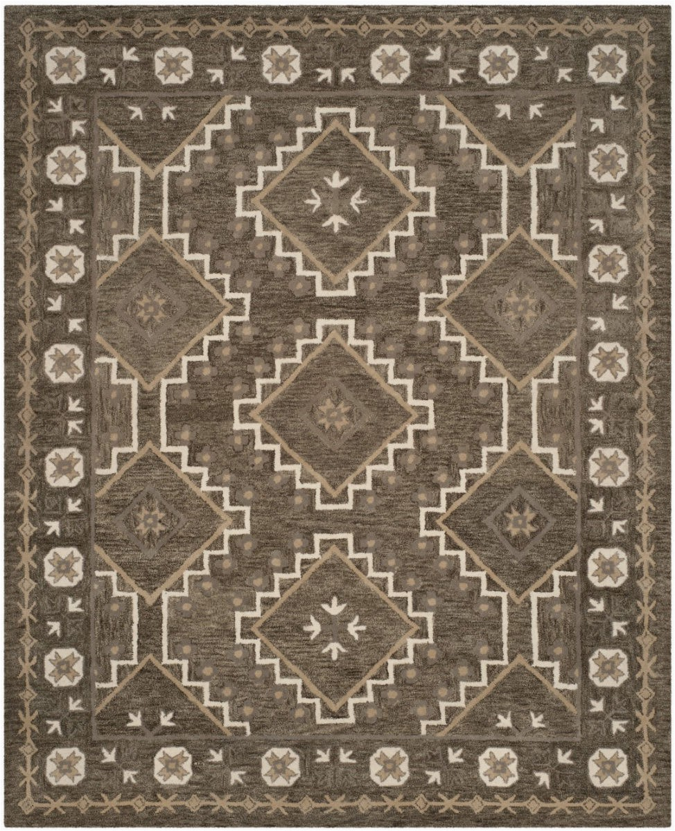 Taupe and Brown area Rug Safavieh Bella Bel672a Brown Taupe area Rug