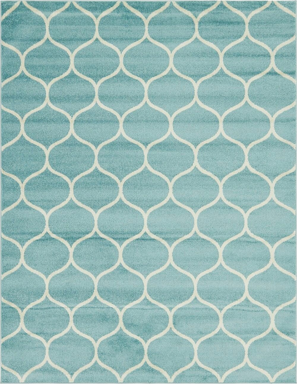 tellaro geometric tealivory area rug