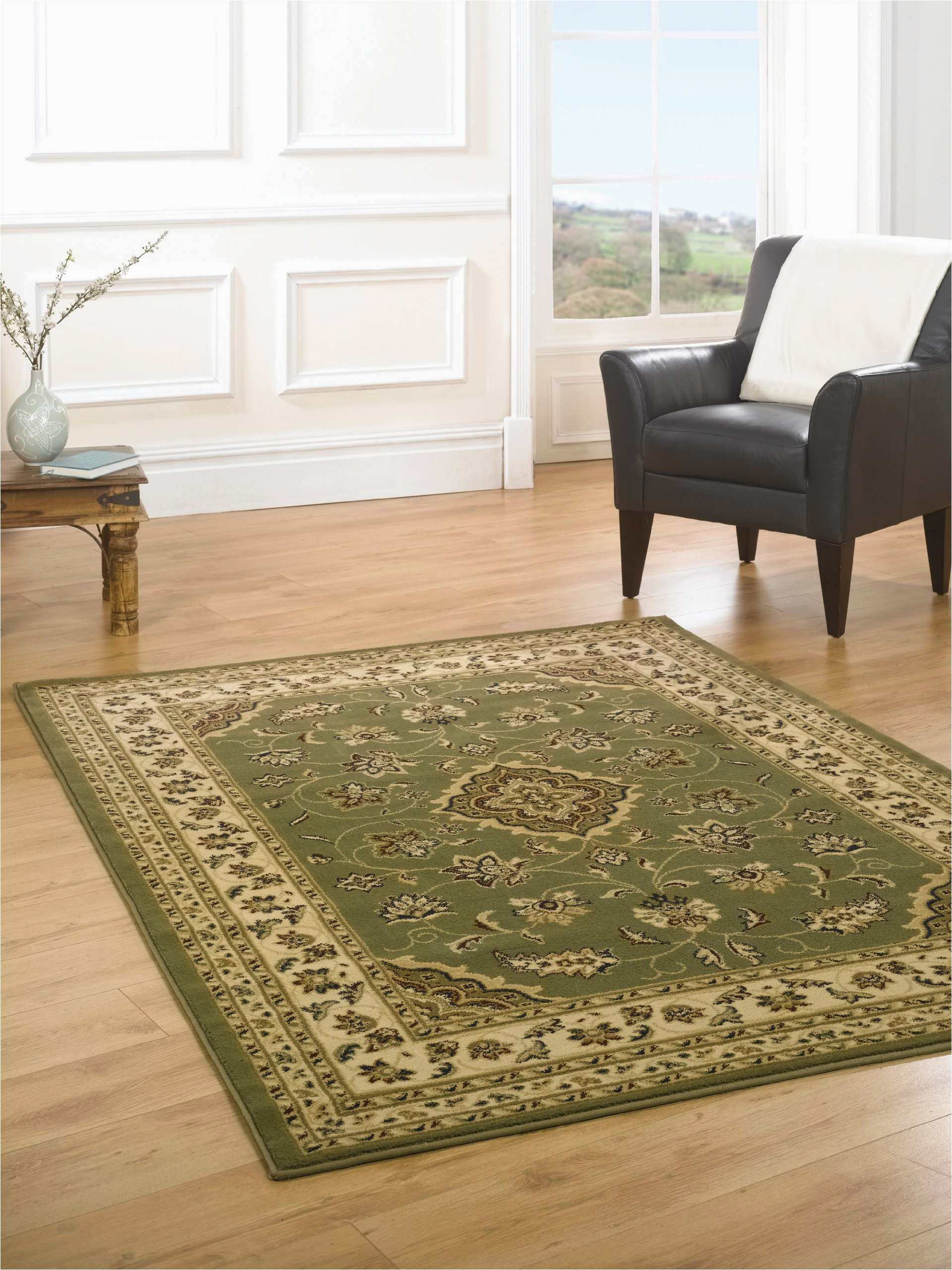 lord of rugs very large heavy oriental traditional classic green beige area rug in 160 x 230 cm 53 x 77 carpet