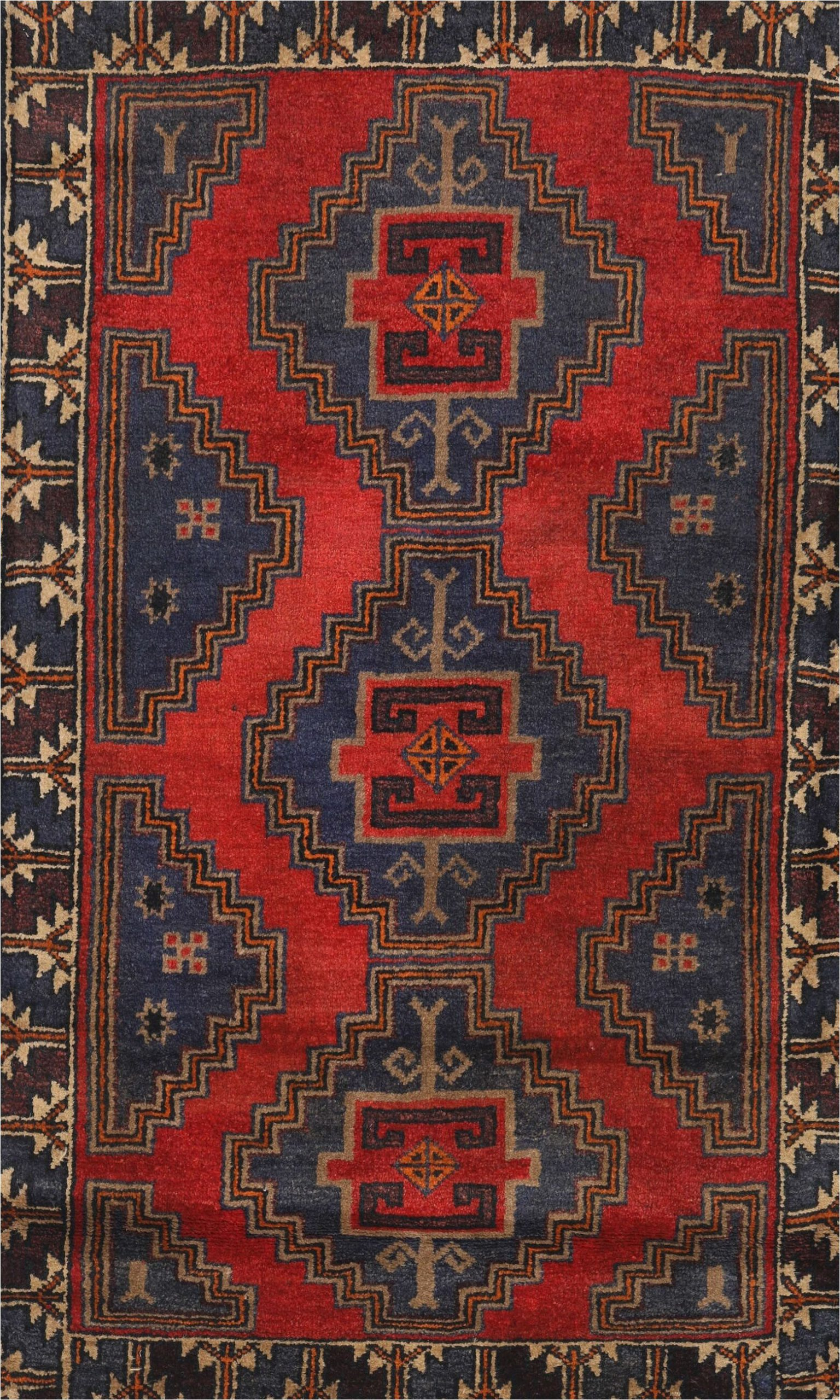 artur traditional navy bluered area rug