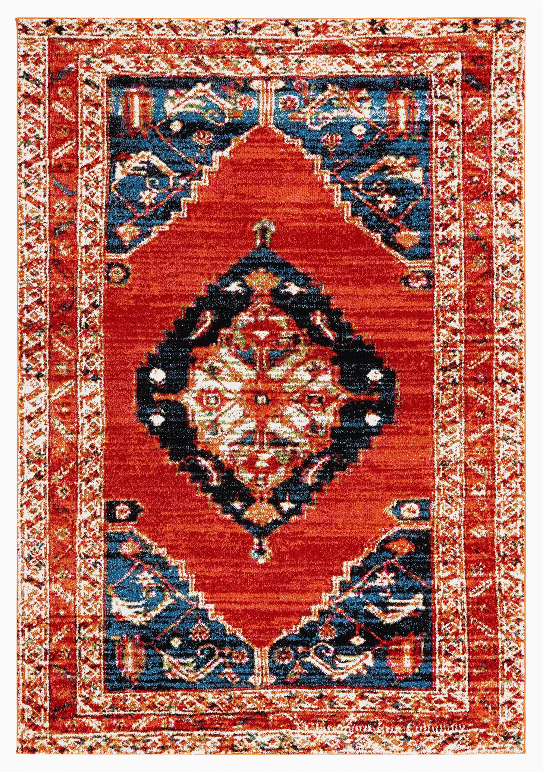 carabella oriental rednavy area rug