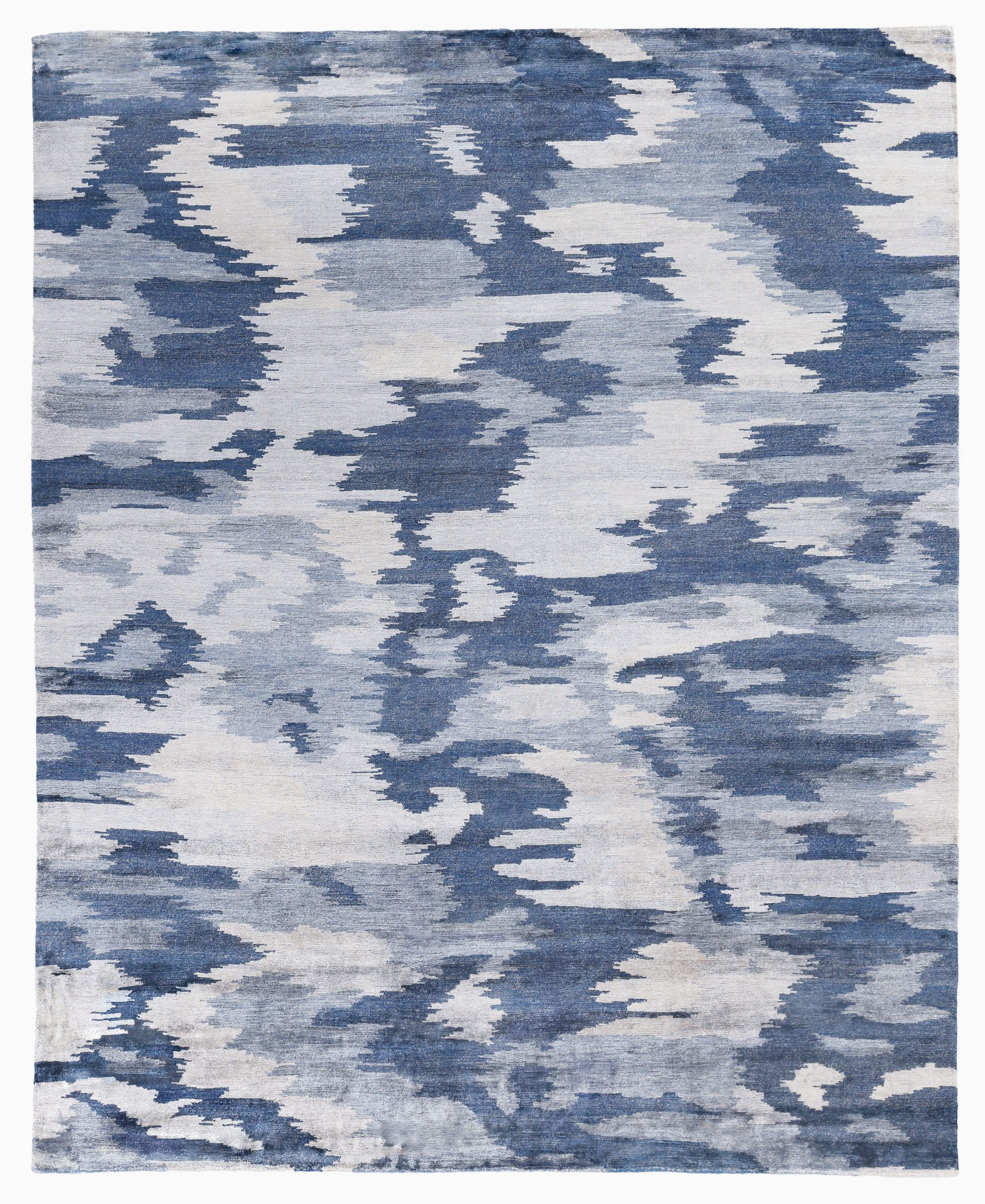 mintford hand knotted blue area rug