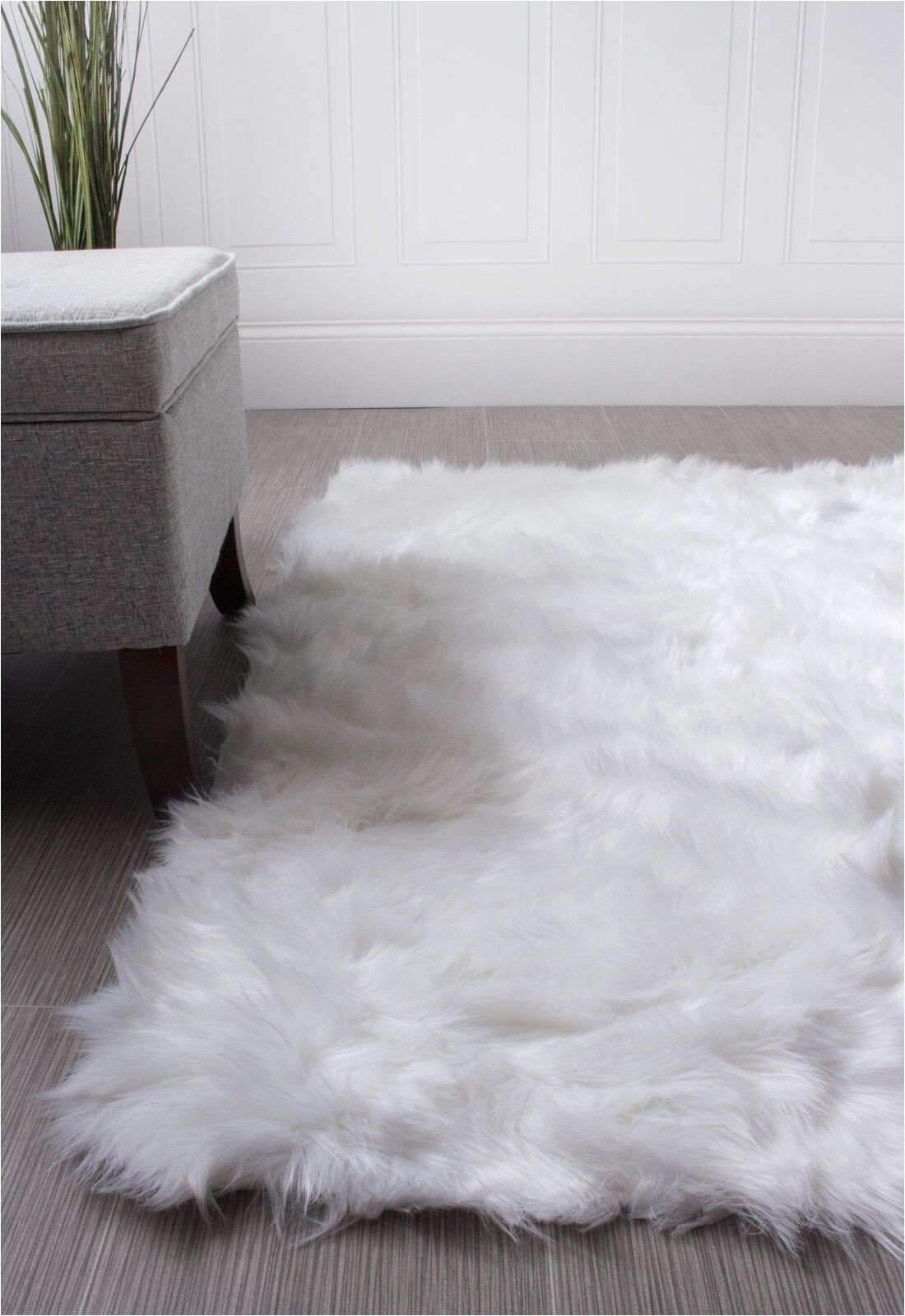 White Faux Sheepskin area Rug Super area Rugs Faux Fur Sheepskin Shag solid area Rug In White