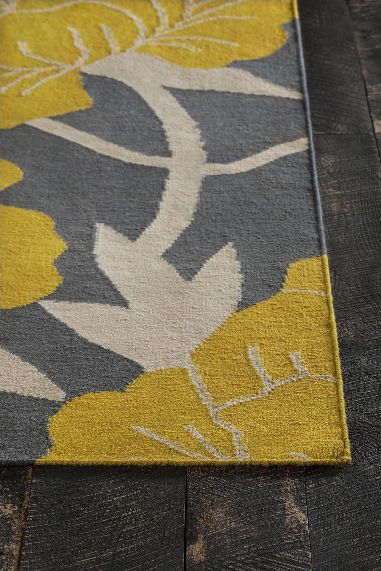 Yellow Grey Black area Rug Gray Yellow area Rug