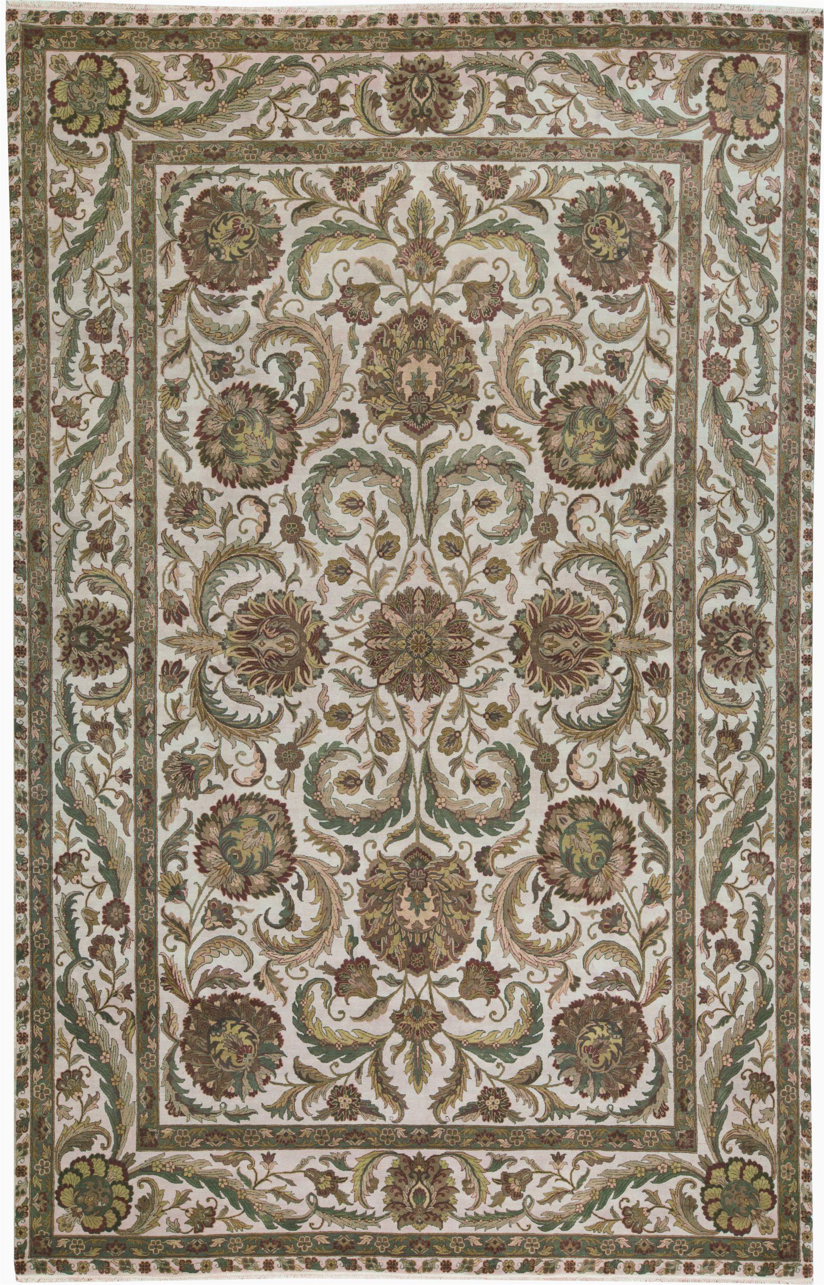 bokara rug co inc one of a kind crown select handwoven 1110 x 183 wool greenivory area rug abhd2435