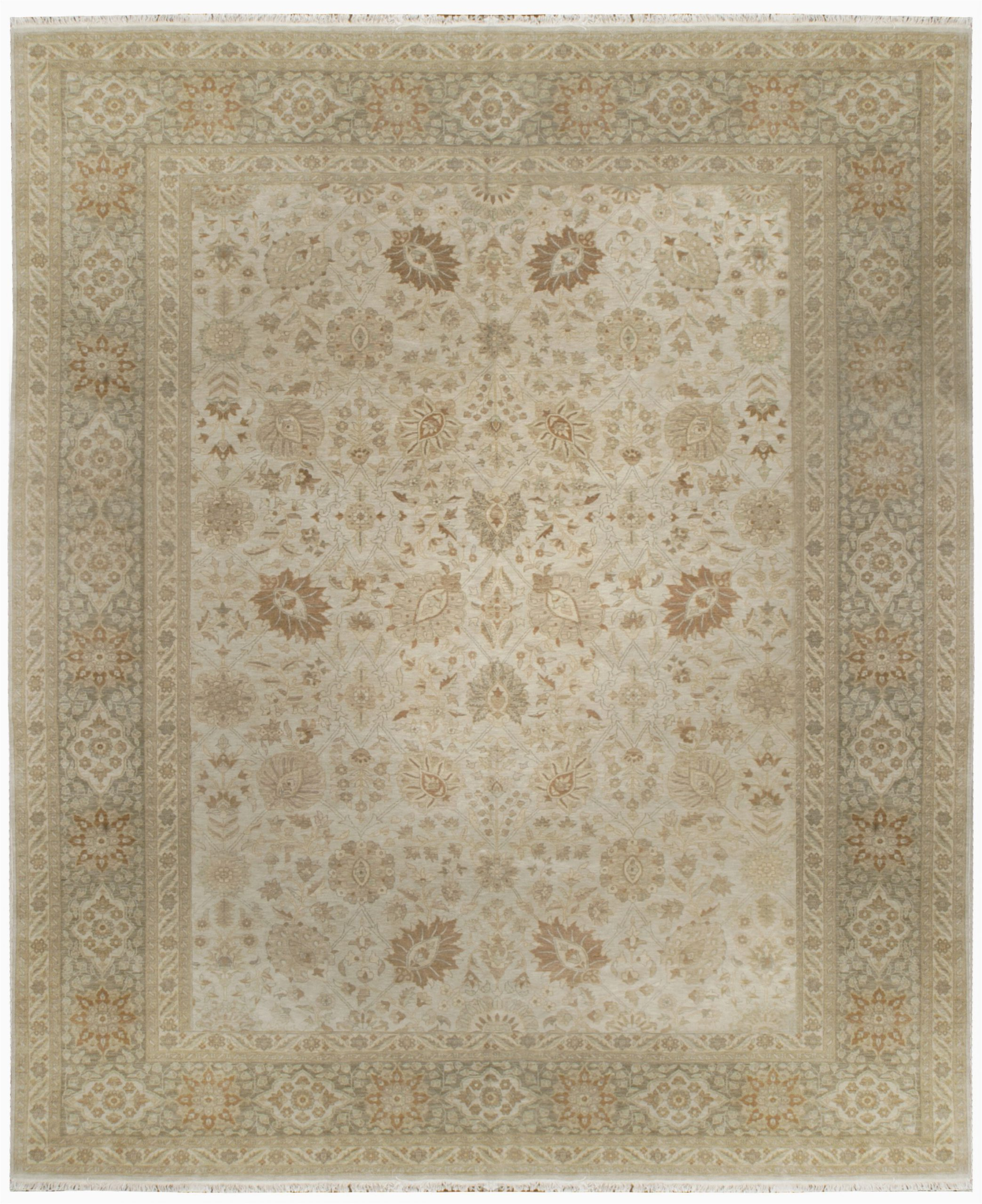 oakrugs by chelsea one of a kind hand knotted beige 12 x 146 wool area rug okrz1439