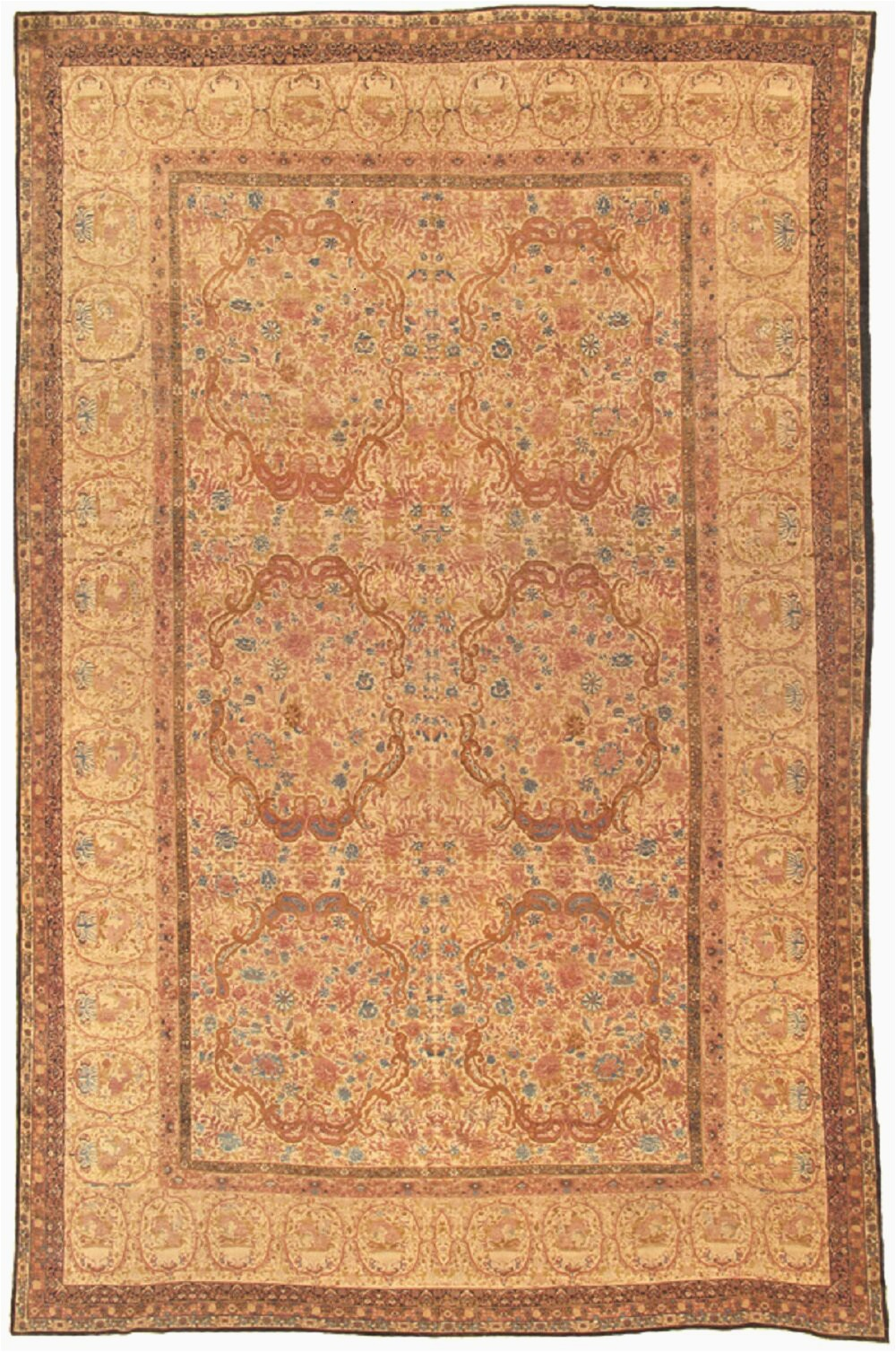 pasargad one of a kind ravar hand knotted traditional style camel 1210 x 208 wool area rug obwh2150