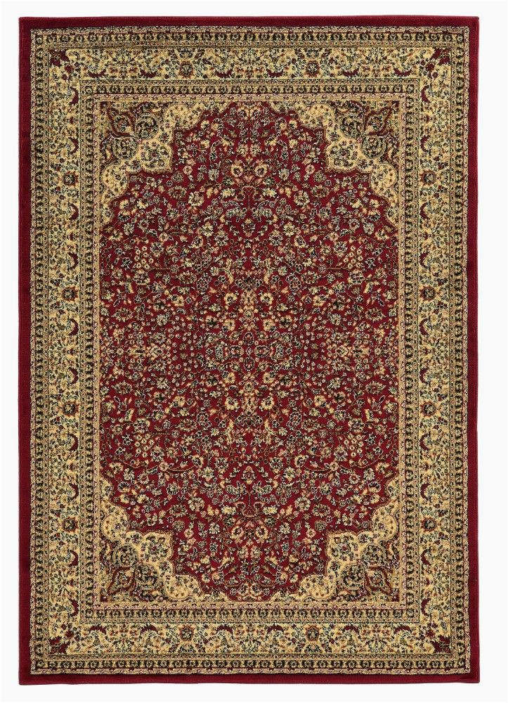 elegance collection 2 x 3 area rug in red ivory linon rug ee0523