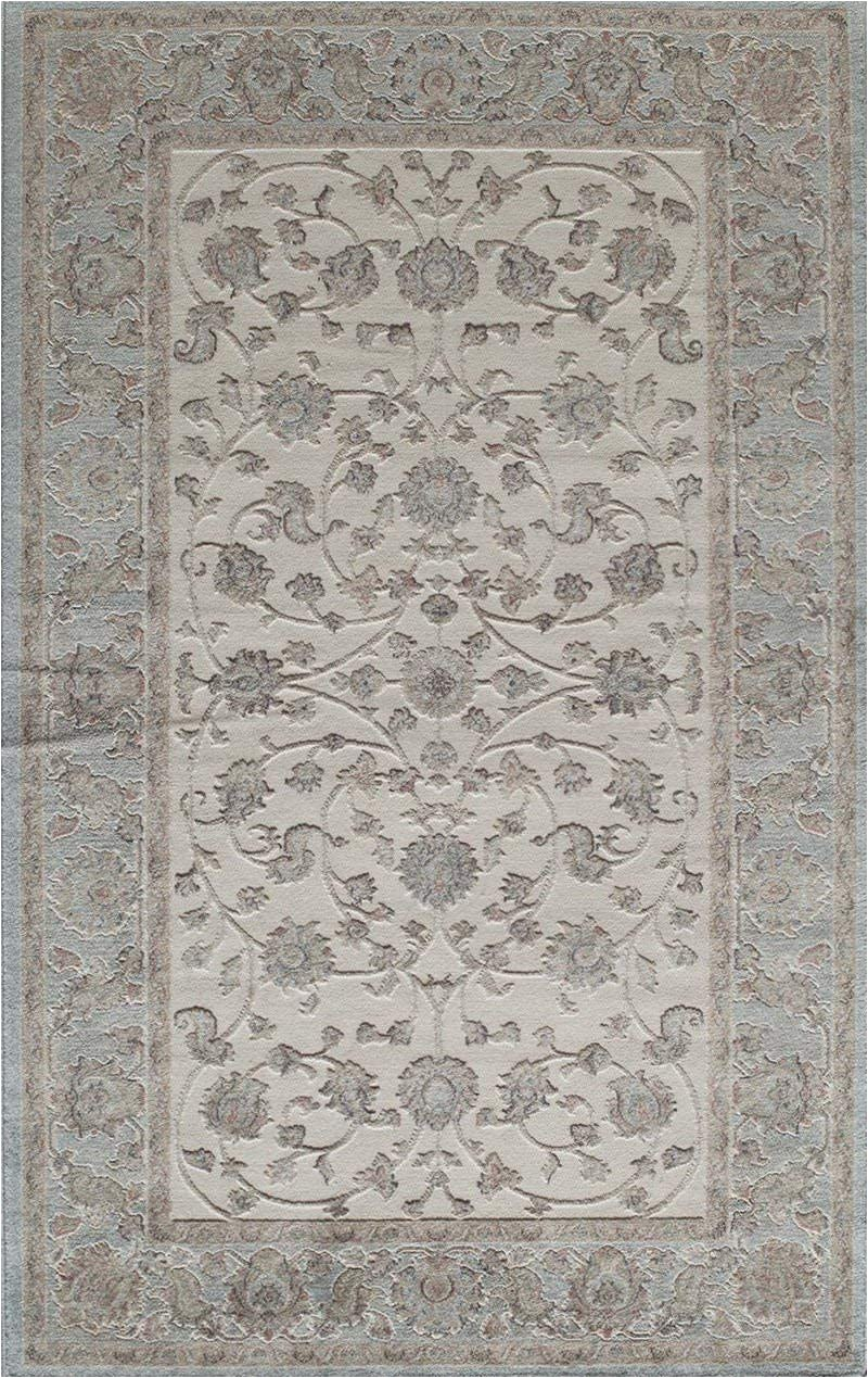 "7 by 11 area Rugs Rugs America Rv100c area Rug 2 7"" X 4 11"" Ivory Blue"