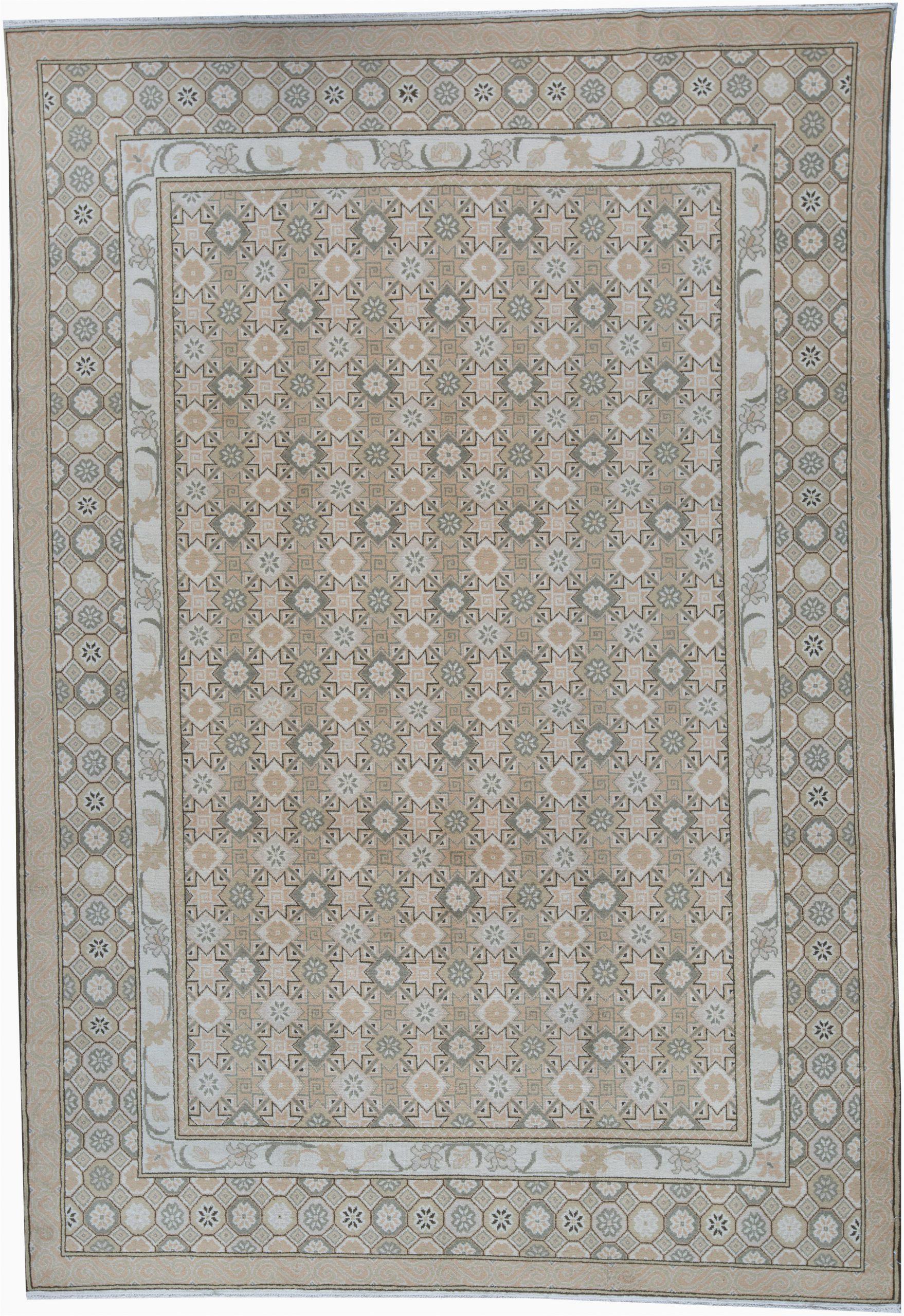 bokara rug co inc one of a kind romainia hand knotted 98 x 14 wool beige area rug abhd5405
