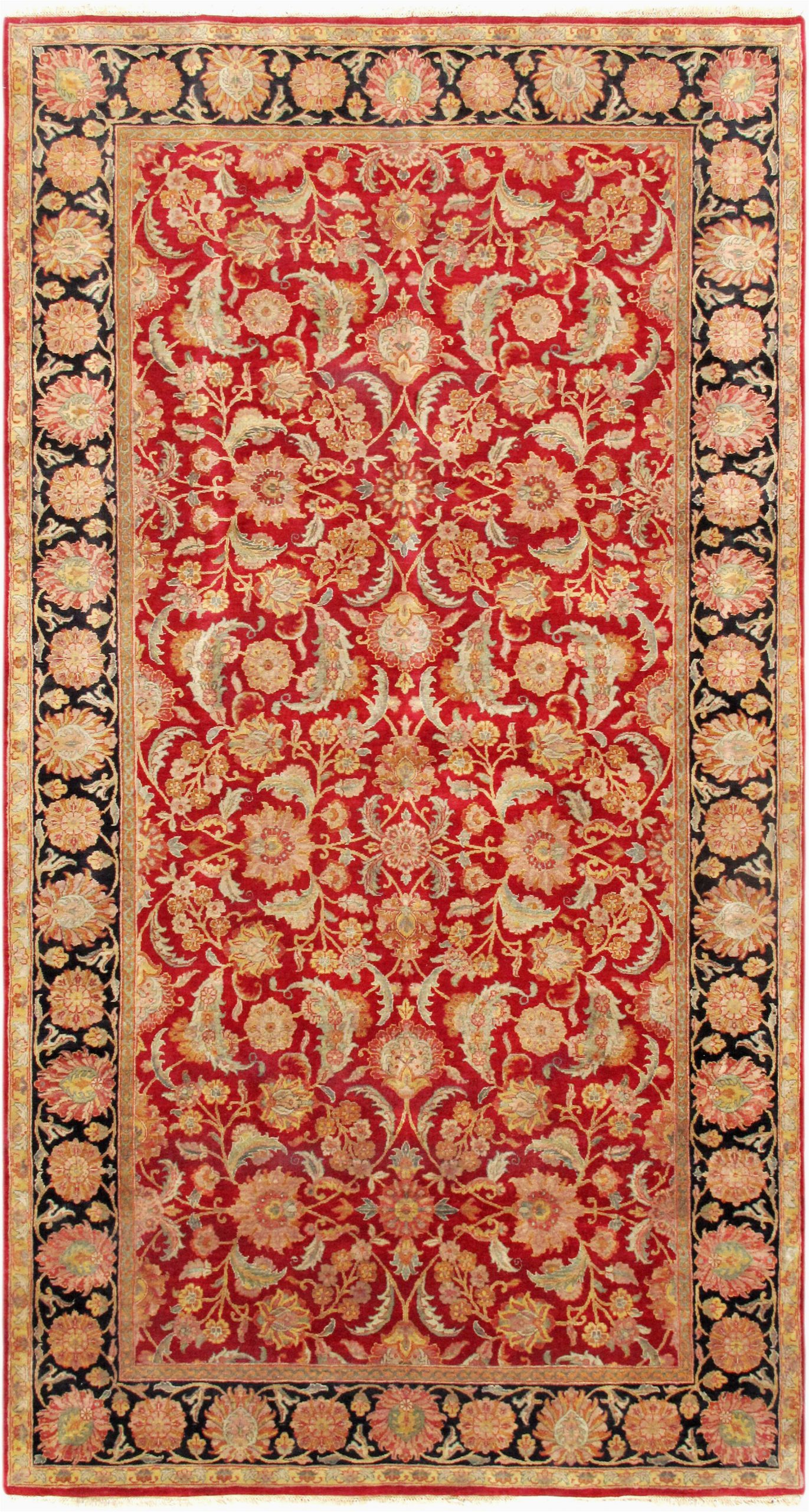 pasargad one of a kind agra hand knotted red 8 x 15 wool area rug obwh1931