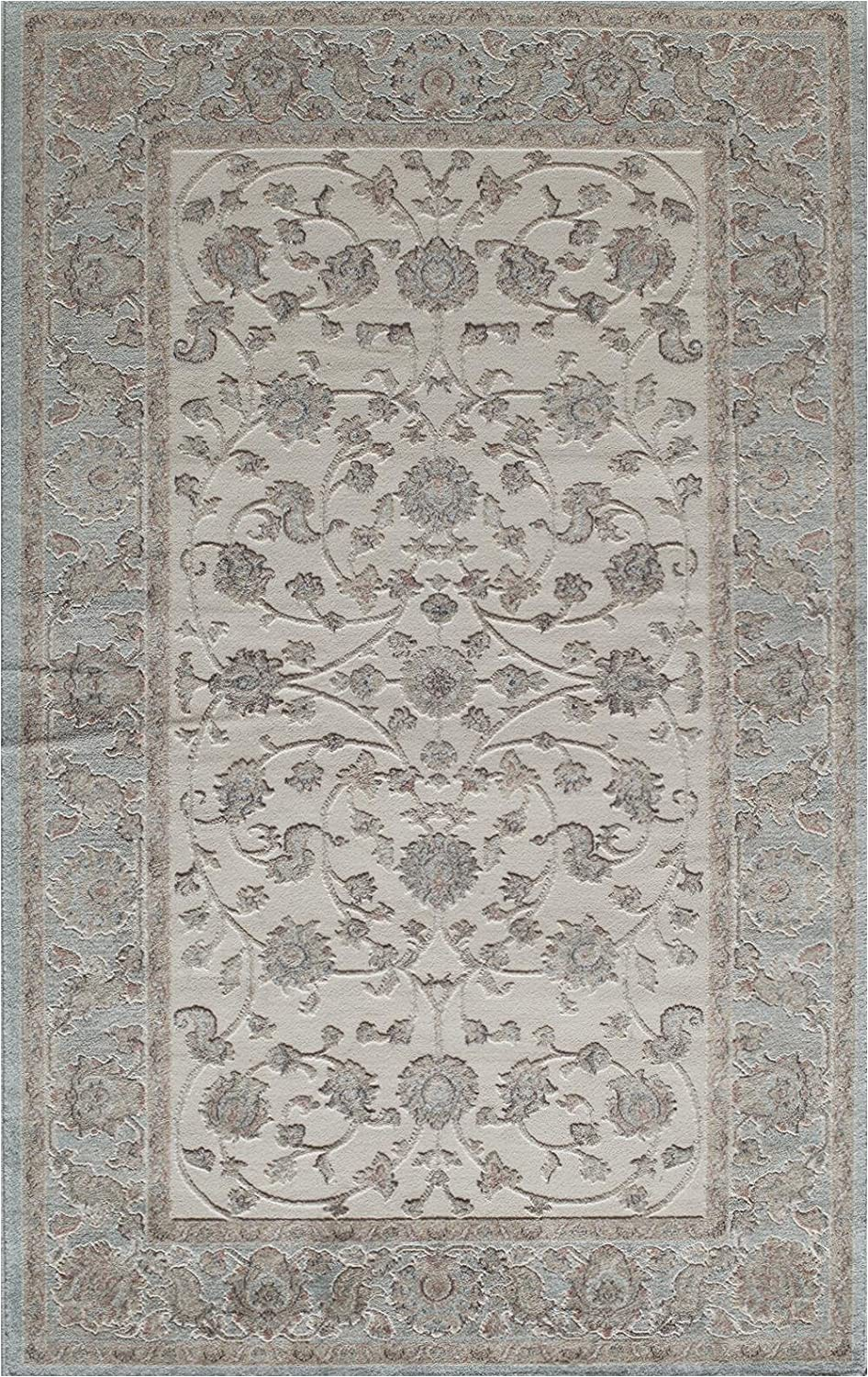 8ft by 8ft area Rug Rugs America area Rug 8 Ft 0 In X 10 Ft 0 In Ivory Blue