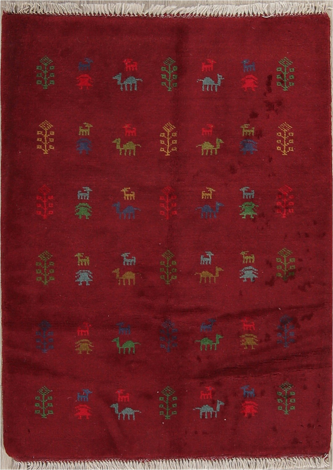 bloomsbury market one of a kind naida hand knotted new age red 36 x 48 wool area rug bi