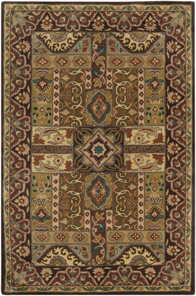 surya caesar traditional area rug 10 ft x 14 ft rectangular olive