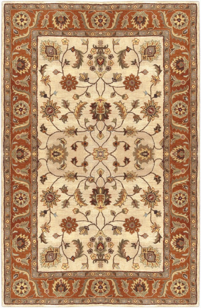 surya crowne traditional area rug 10 ft x 14 ft rectangular beige