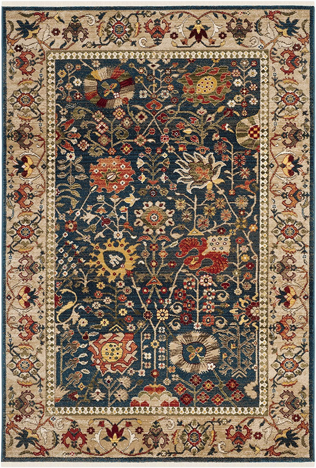 Area Rugs Larger Than 9×12 Safavieh Kashan Collection Ksn303g Traditional Blue and Tan area Rug 9 X 12