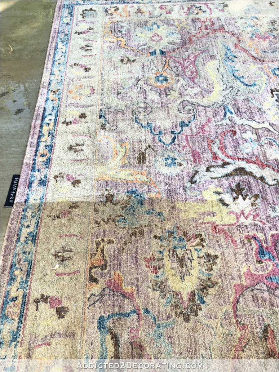 cleaning an area rug with a power washer 2