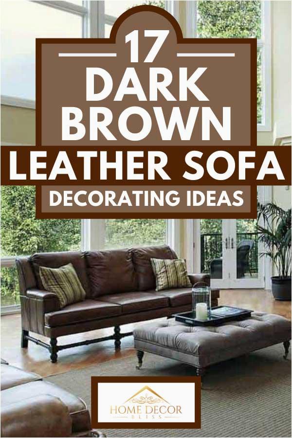 17 Dark Brown Leather Sofa Decorating Ideas