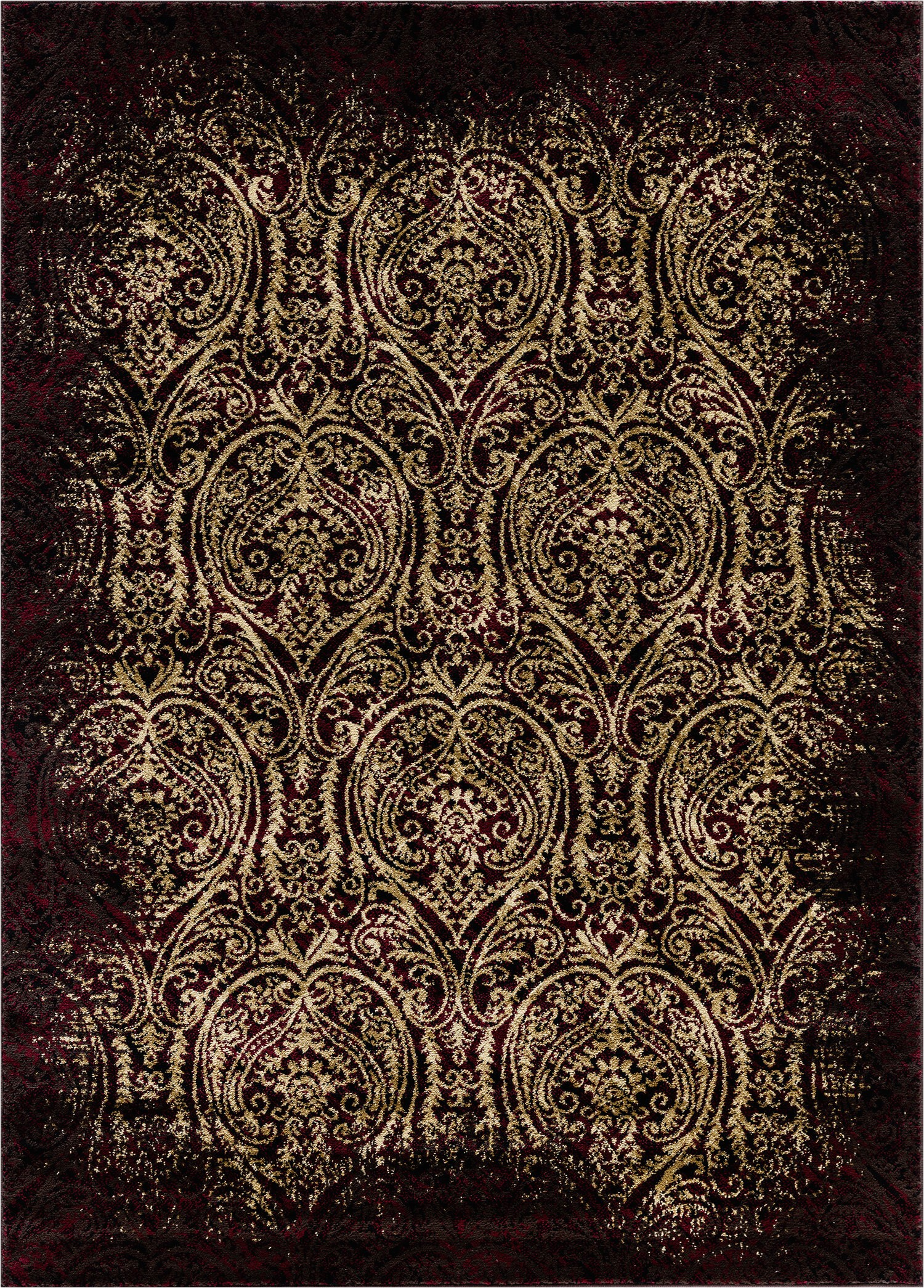 benny burgundybeige area rug