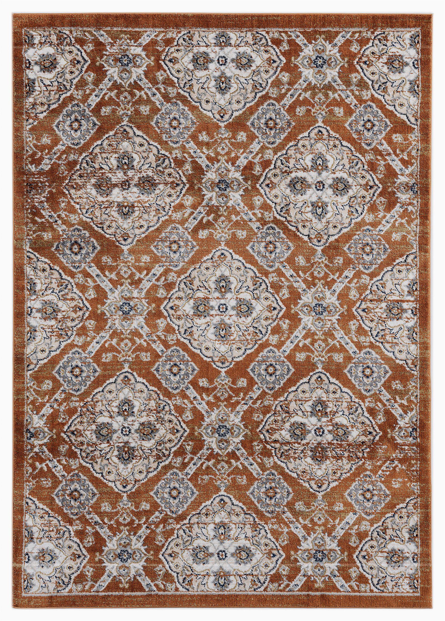 ada century burnt orange area rug