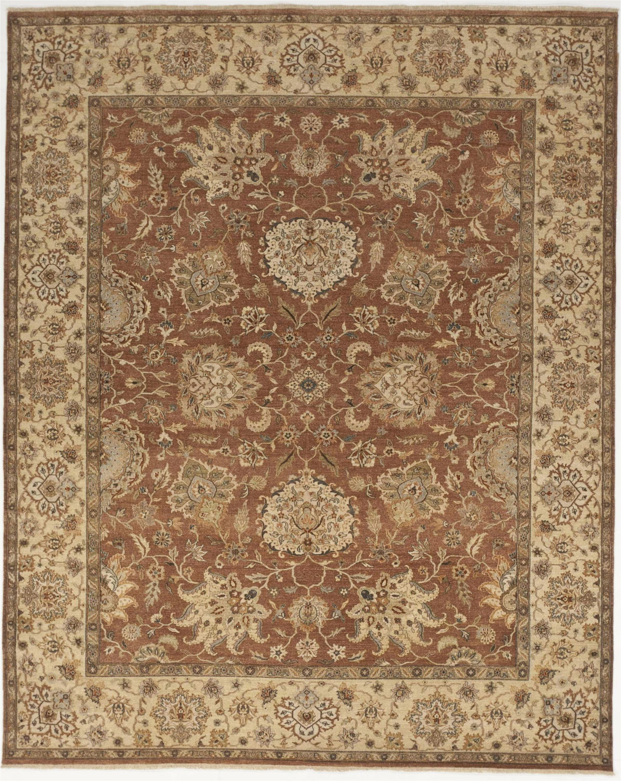 strahan luxury hand knotted wool beigerust area rug