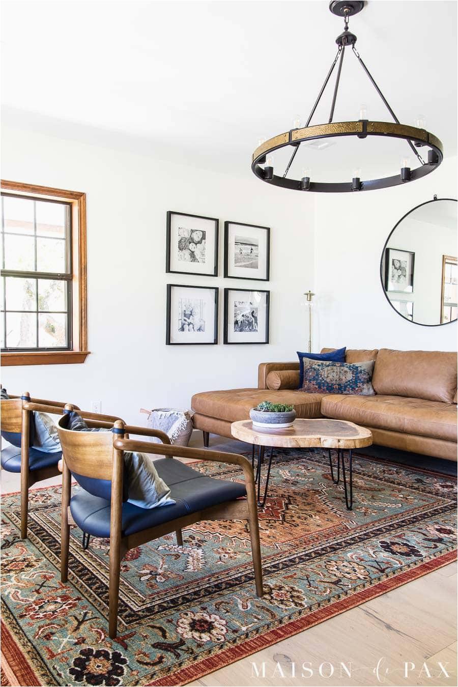 rustic modern farmhouse living room decor 9