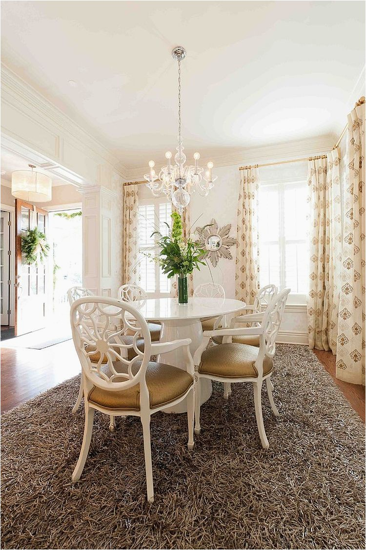 Plush Delos rug for the transitional dining room