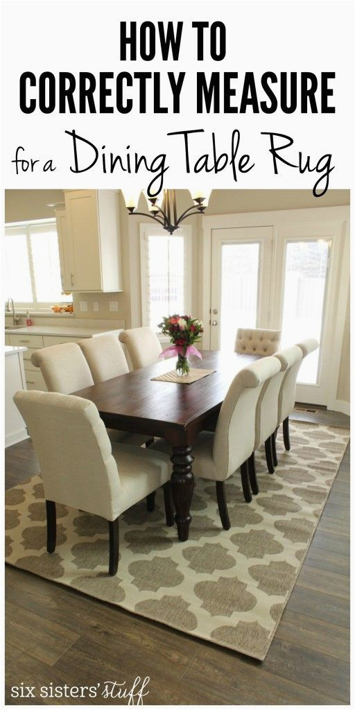 Best area Rug for Under Dining Table How to Correctly Measure for A Dining Room Rug