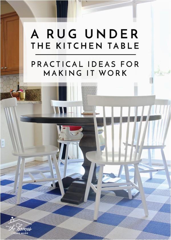 Rug Under a Kitchen Table 3 Ways to Make It Work 1