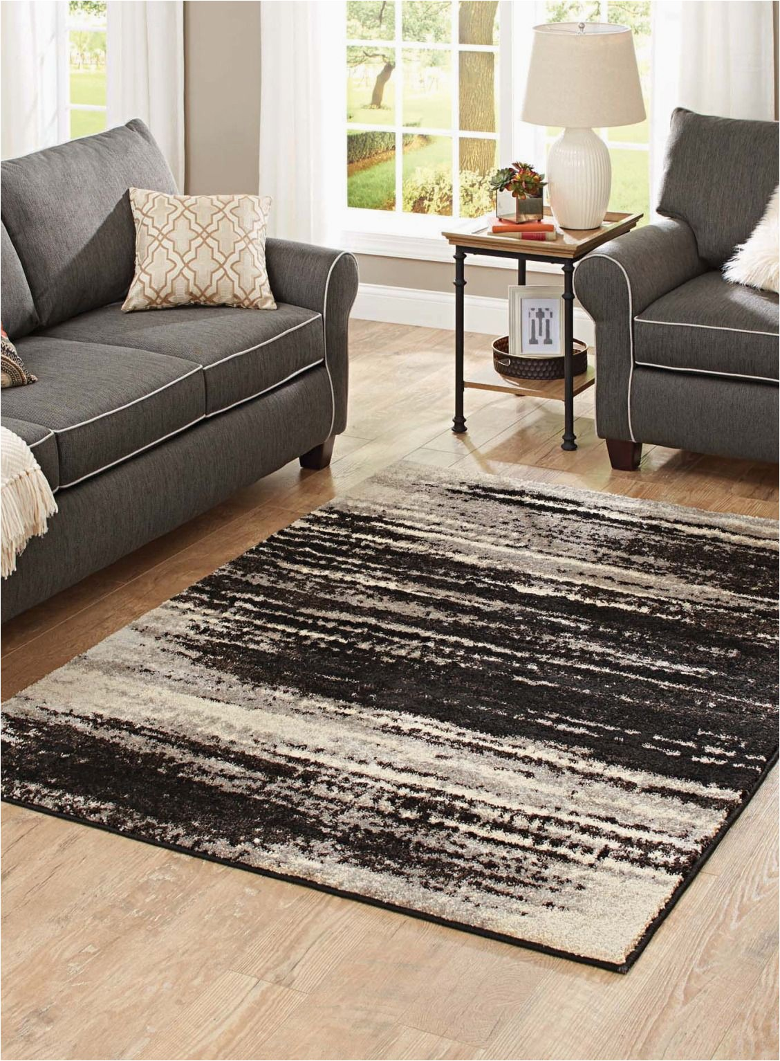 Better Homes Gardens area Rugs Better Homes & Gardens Shaded Lines area Rug Walmart