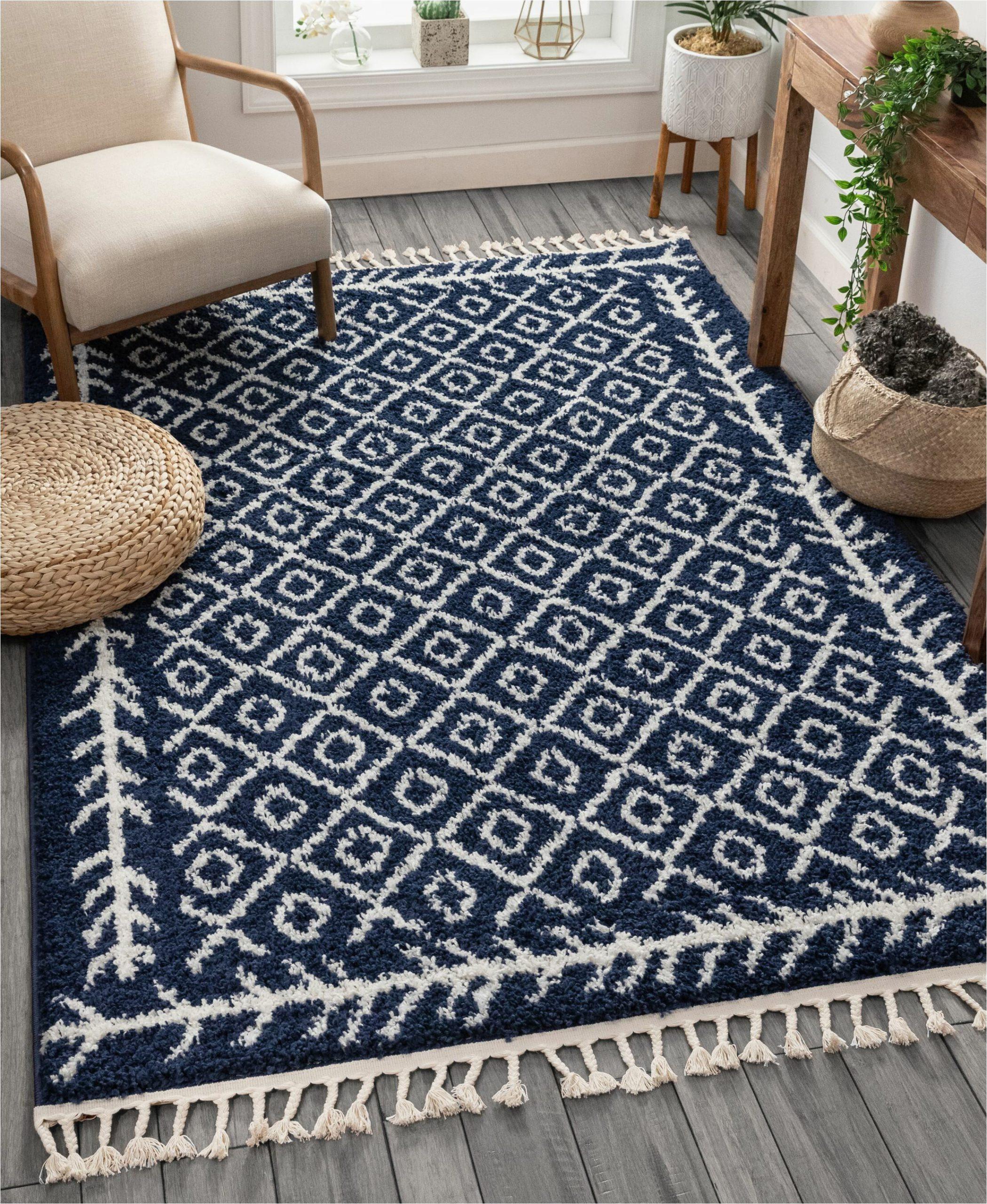 cabana geometric bluewhite area rug