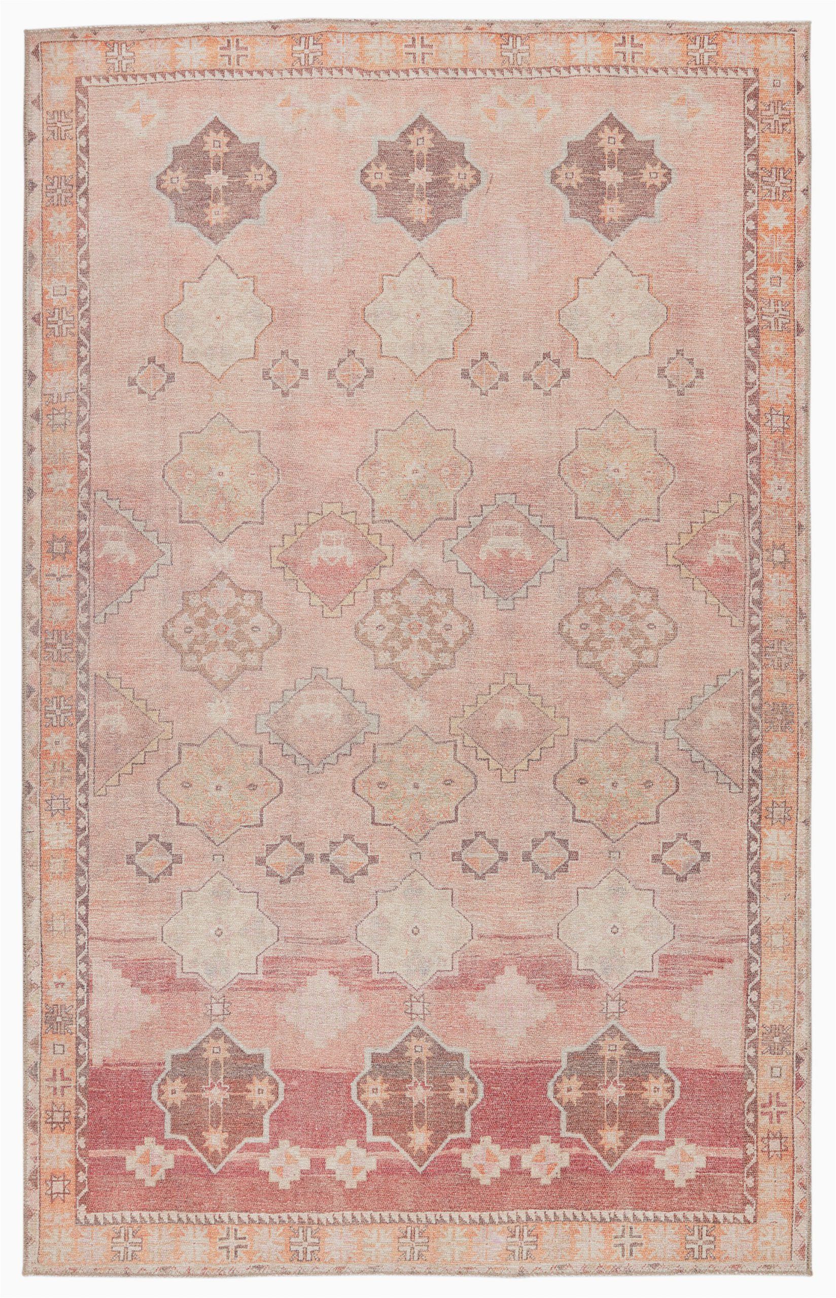 guiterrez southwestern pink area rug