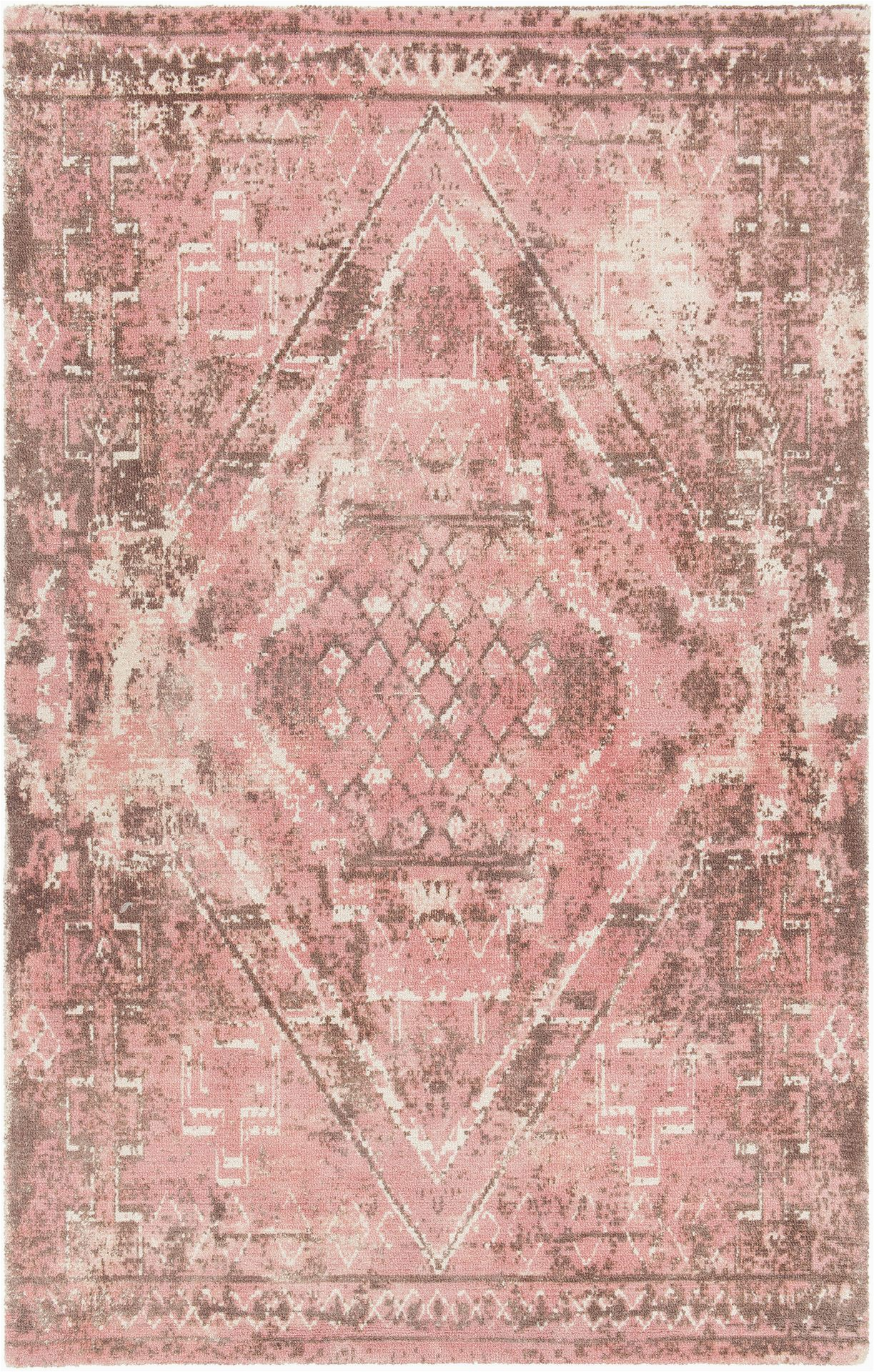 Brown and Pink area Rugs Tayla Hand Tufted Pink Brown area Rug