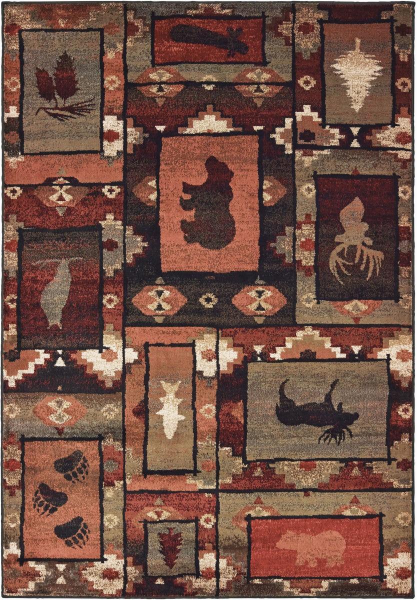 oriental weavers woodlands 9601d brown rust area rugx