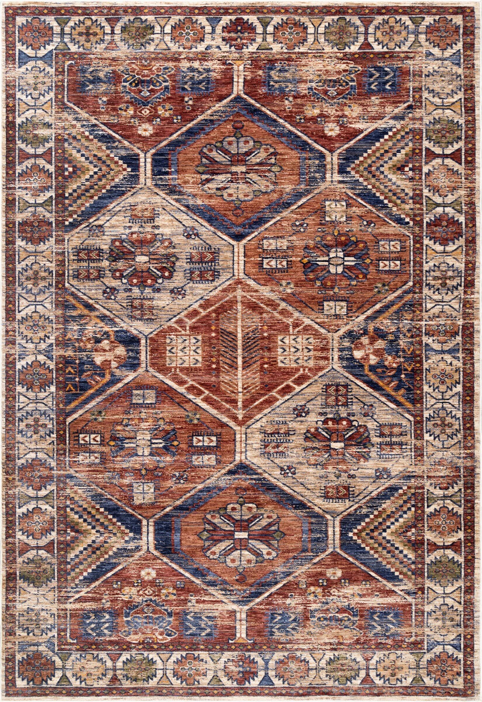 topsfield rust area rug