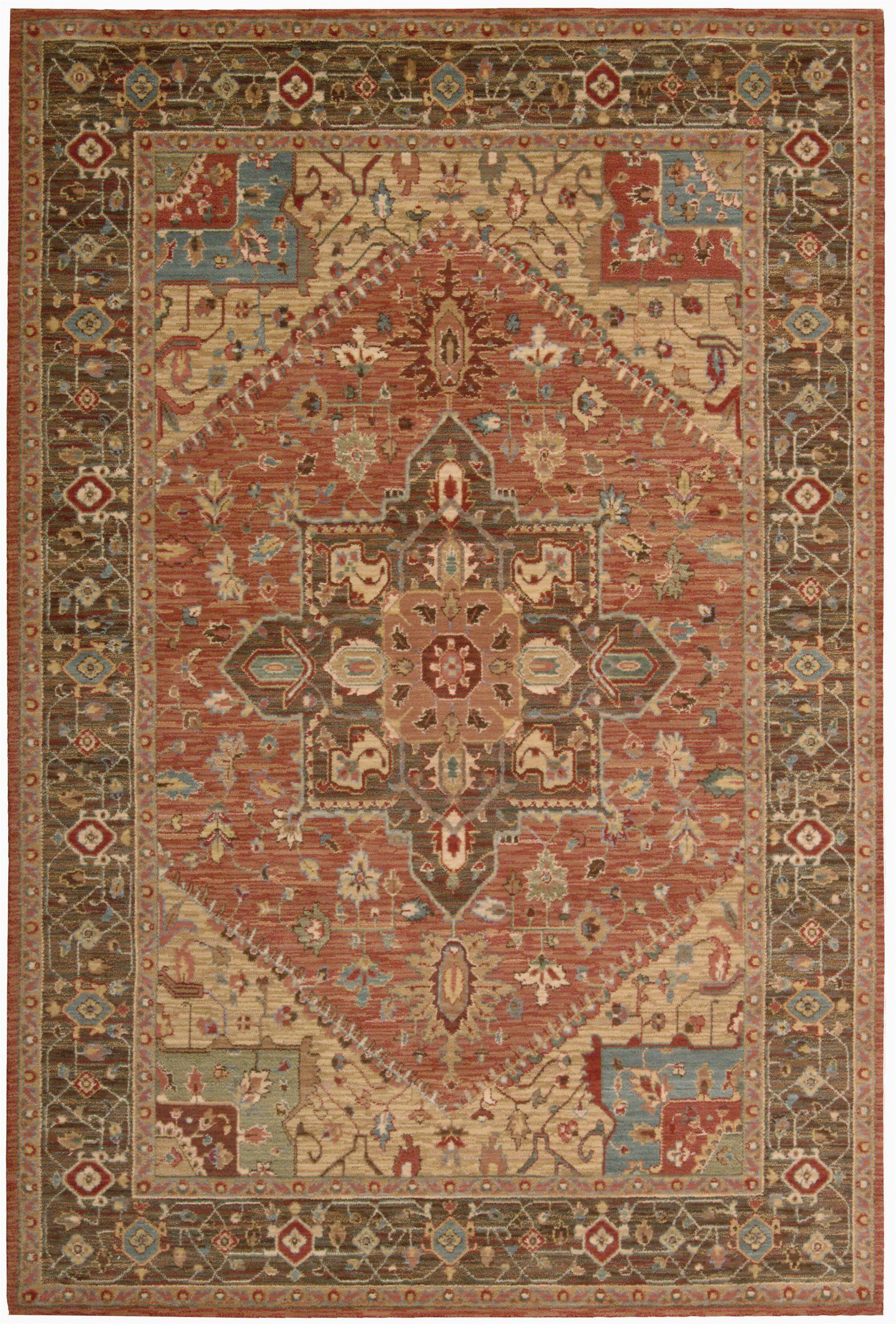 crownover wool rust area rug