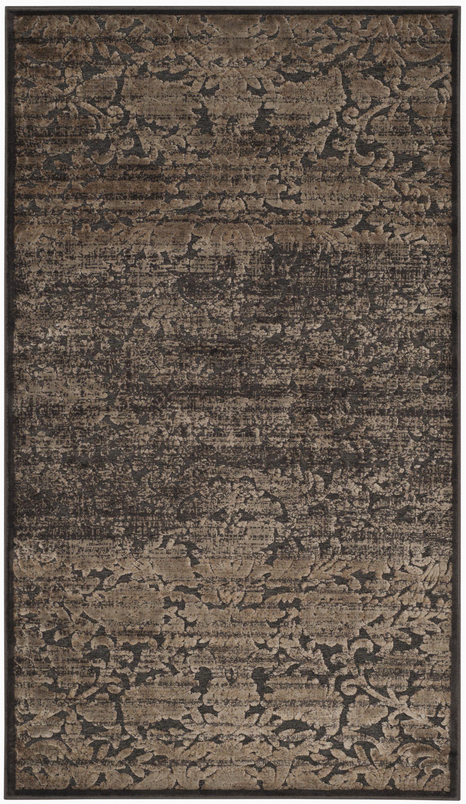martha stewart heritage bloom wool brown area rug