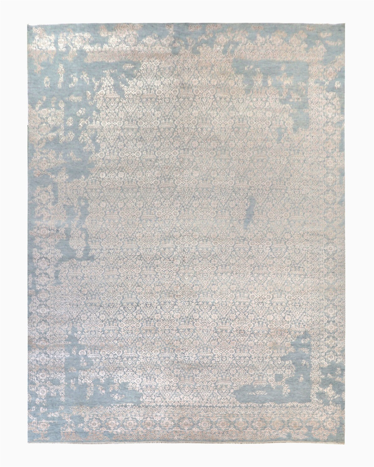solo rugs pippa hand knotted wool area rug gray 9 x 12 slrh6349
