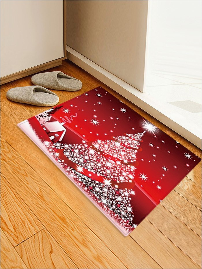 Christmas area Rugs for Sale Christmas Stars Tree House Pattern Water Absorption area Rug