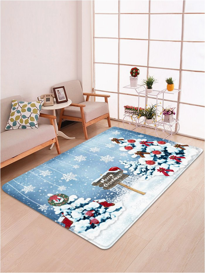 Christmas area Rugs for Sale Christmas Tree and Snowflakes Pattern Non Slip area Rug