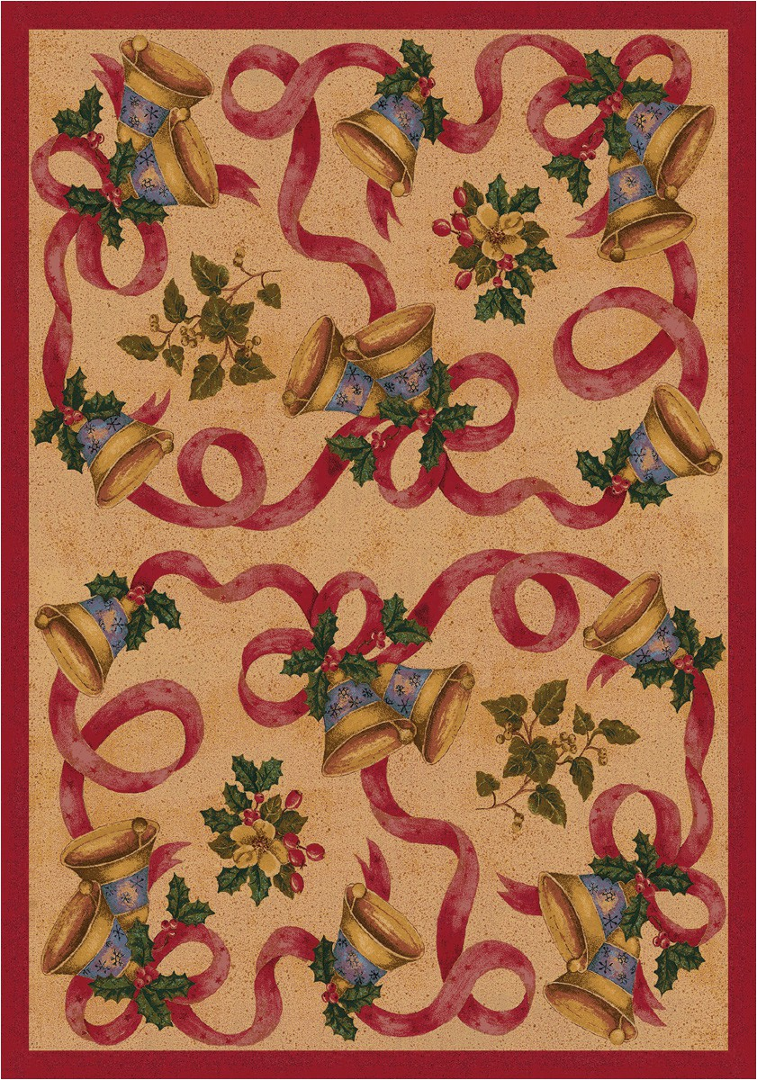"""Christmas area Rugs for Sale Details About 4×6 Milliken Bells & Bows Chimes Christmas area Rug Approx 3 10""""x5 4"""""""