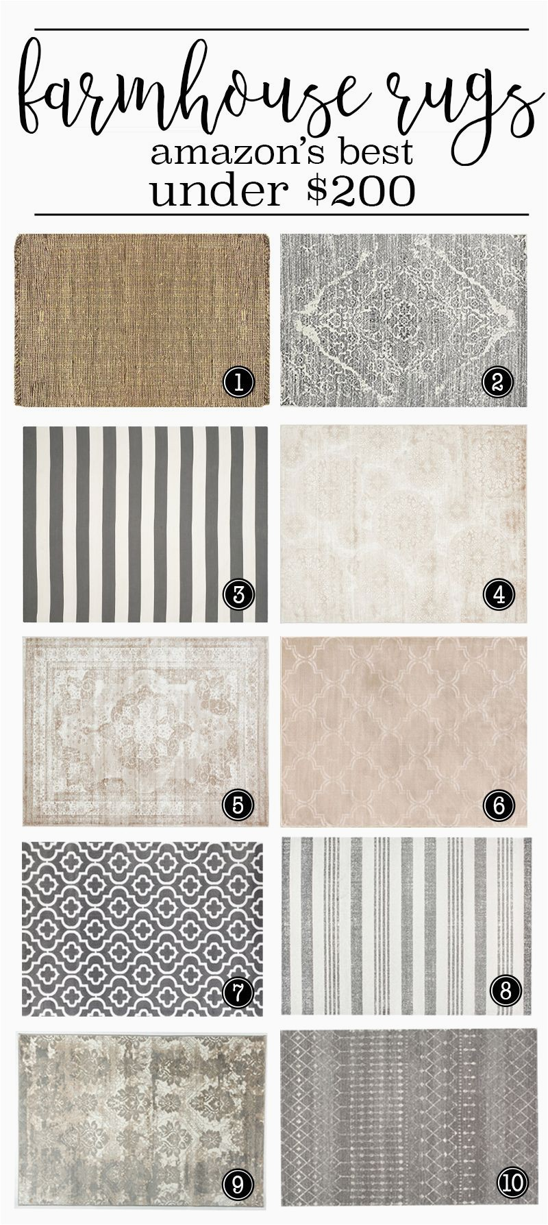 Country Cottage Style area Rugs where to Buy the Best Farmhouse Rugs Under $200