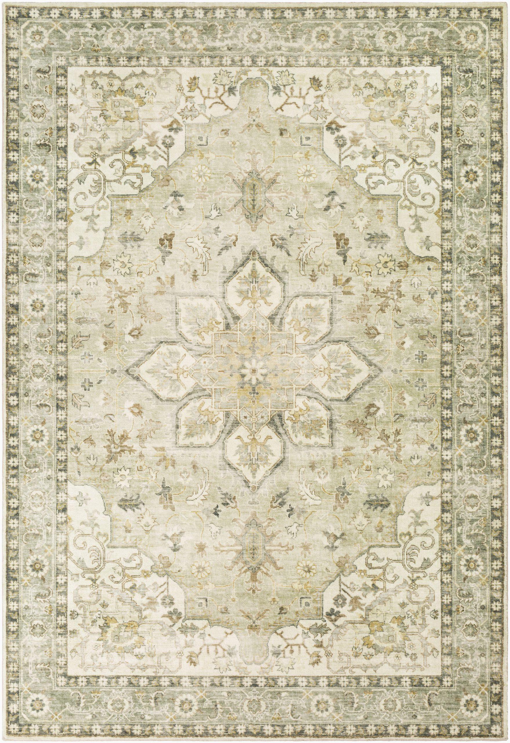 absalom oriental creamsage area rug