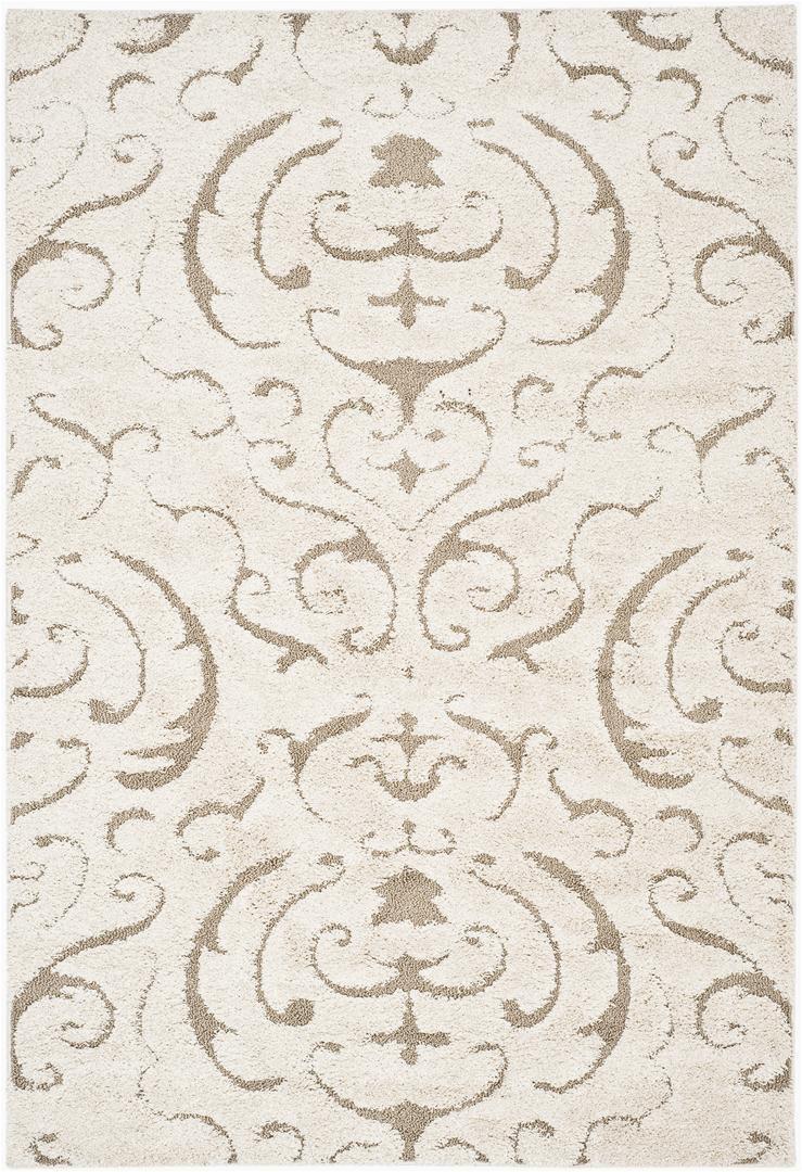 Safavieh Florida Shag SG462 1113 Cream and Beige rugs