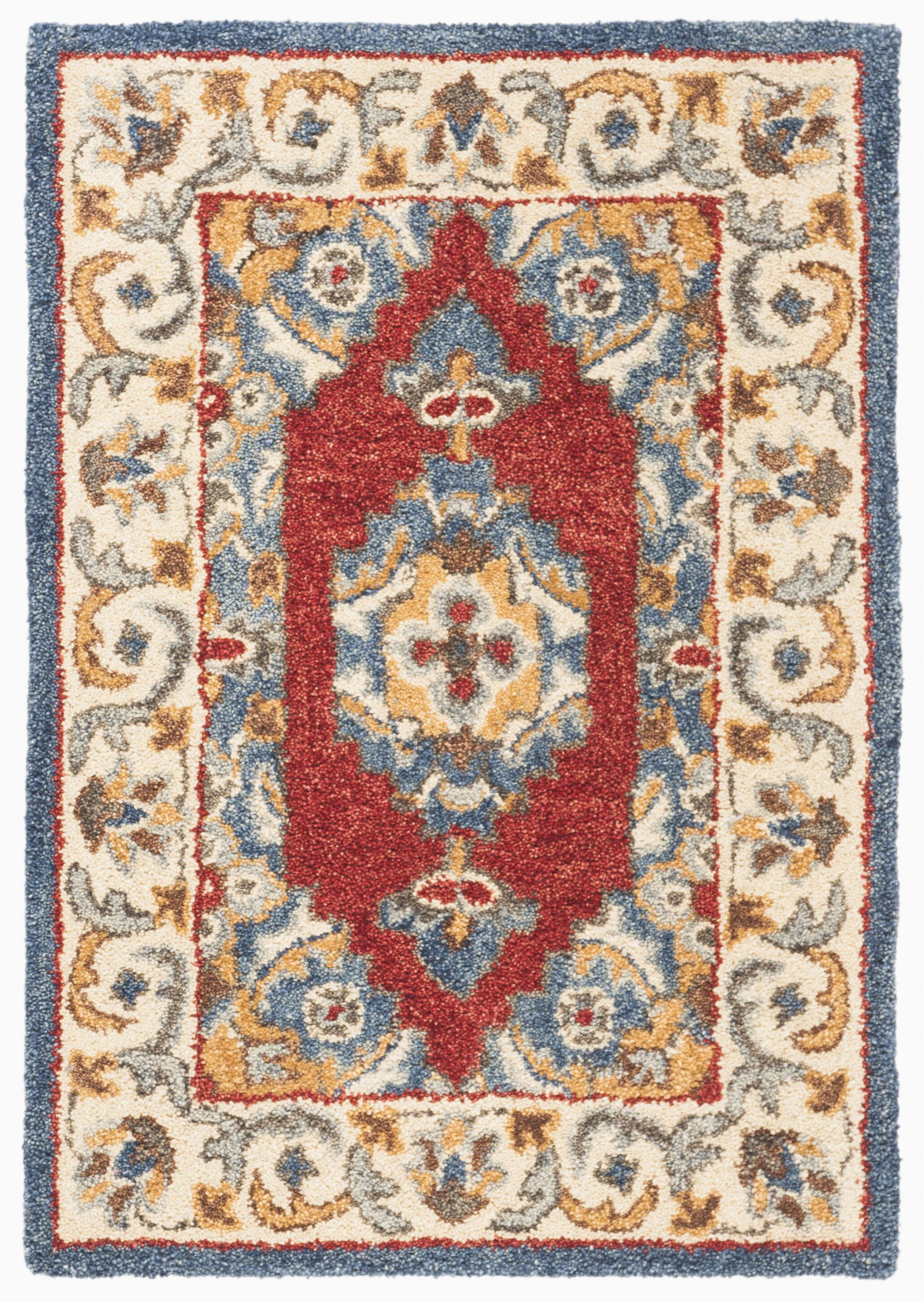 clymer antiquity hand tufted woolcotton blue area rug
