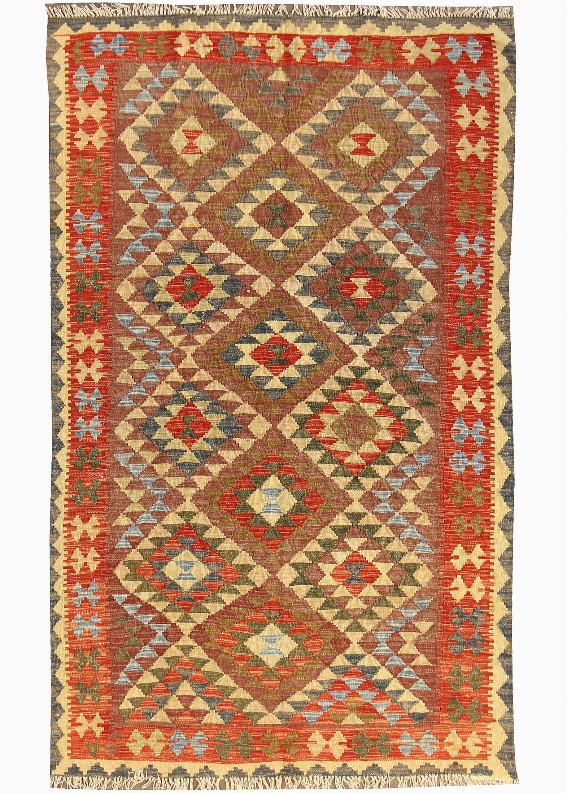 kilim hand woven wool brown area rug