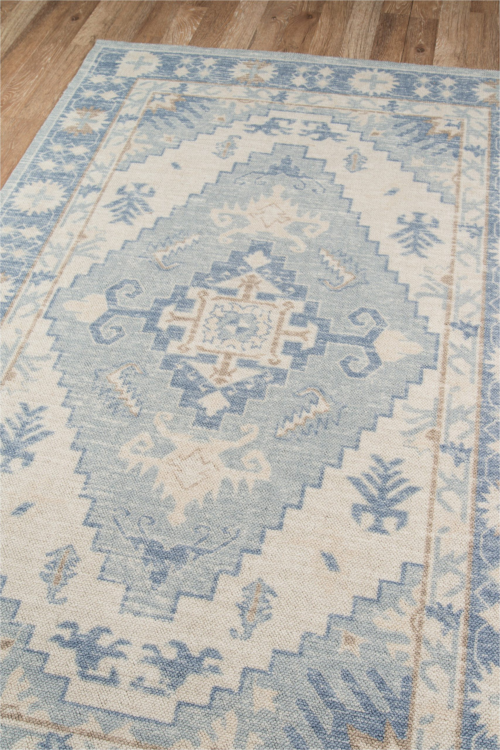 erela oriental blue area rug
